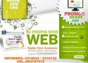 Posicionamiento de Páginas Web en Ecuador. Hosting y Dominio propio. Quito