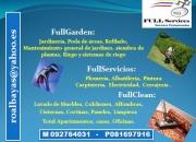 JARDINERIA, MANTENIMIENTO Y LIMPIEZA DE INSTALACIONES fullservices