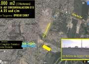 Amplio terreno de venta en manta 50.000 m2 inf. al 0985813087