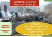 Compro chatarra metálica, maquinaria industrial en desuso