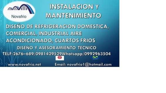 Instalacion, mantenimiento y reparacion de cuartos frios y aires acondicionados