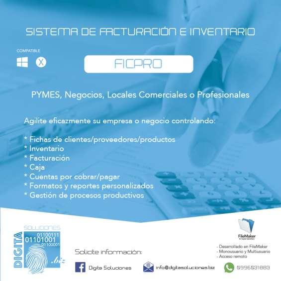 Sistema de facturación, inventario y control de procesos. ficpro