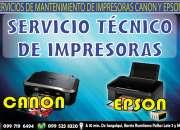 Servicio técnico de impresoras epson y canon