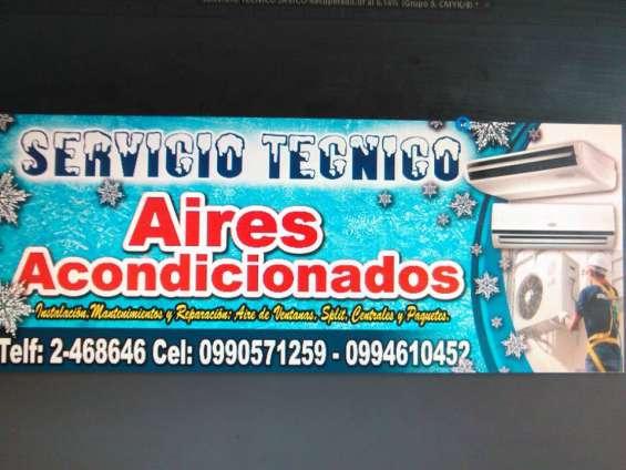 Servicio tecnico. mantenimientos reparacion de aires acondicionados, guayaquil