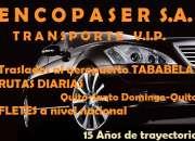 TRANSPORTE VIP QUITO-SANTO DOMINGO-QUITO