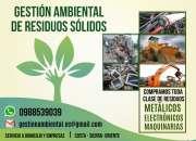 Reciclaje de residuos sólidos, compra de chatarra 0988539039