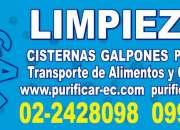 Telef 0991073831 limpieza de tanques de agua potable