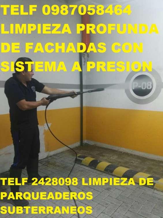 Telf 0981941777 limpieza profunda de fachadas de hormigon