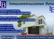 Ofrecemos servicios: pintura, enlucido a edificios o departamentos.