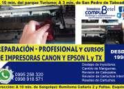 Servicio técnico garantizado de impresoras CANON MP y MG, EPSON L y TX