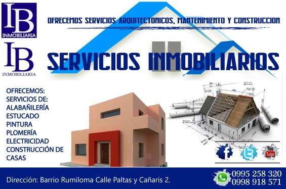 Inmoconstrucciones: diseño de planos, construcción de casas, diseño de interiores.