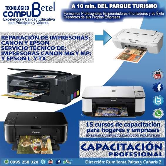 Compu betel: curso de servicio técnico impresoras