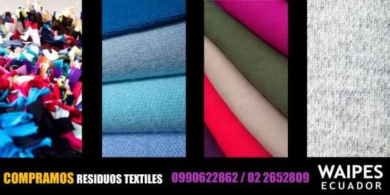 Reciclaje textil/ compra de retazos de tela
