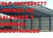 TELF 0996818473 LIMPIEZA PROFUNDA DE GALPONES Y BODEGAS
