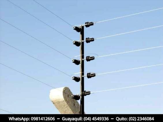 Cercas eléctricas. whatsapp: 0981412606 – guayaquil.: 04.4549336 – quito: 02.2346084