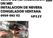 CURSO DE REFRIGERACION $80 UN MES APRENDE INSTALACION DE SPLIT REPARACION DE NEVERA CONGEL