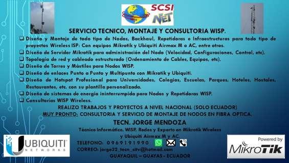 """Servicio tecnico, diseño, montaje y consultoria wisp """"scsi-net"""""""