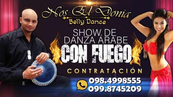 Show de danza árabe con fuego