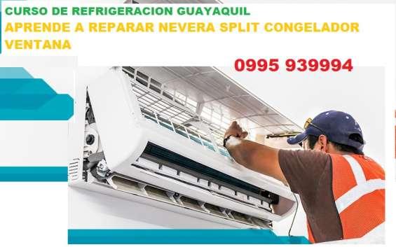 Curso refrigeracion guayaquil aprende reparacion nevera split congelador ventana 099593999